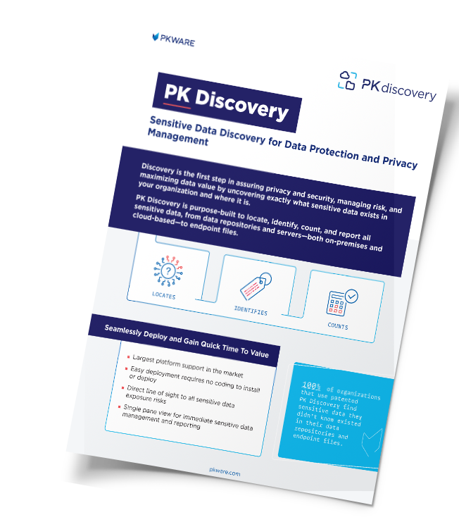 PK Discovery: Sensitive Data Discovery for Data Protection and Privacy Management