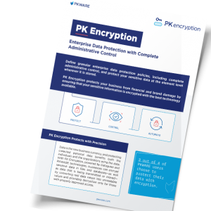 PK Encryption: Enterprise Data Protection with Complete Administrative Control