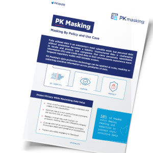 PK Masking: Masking by Policy and Use Case
