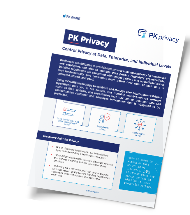 PK Privacy: Control Privacy at Data, Enterprise, and Individual Levels